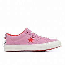 Prism Roze Converse Hello Kitty X One Star Suede Low Top Unisex Shoes 162939C