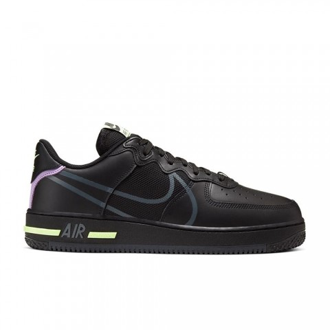 Anthracite/Violet Star/Barely Volt Nike Air Force 1 React Unisex Schoenen CD4366-001