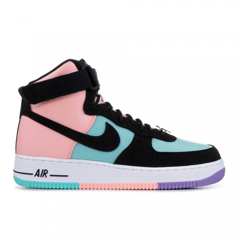"""Hyper Jade, Bleached Coral, Space Paars, Zwart Nike Air Force 1 High """"Have A Nike Day"""" Unisex Schoenen CI2306-300"""