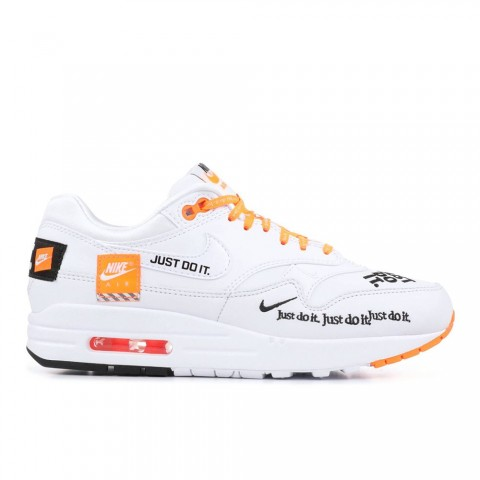 "Wit/Zwart/Totaal Oranje Nike Air Max 1 LX ""Just Do It"" Damesschoenen 917691-100"