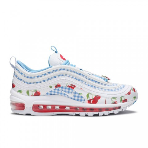 Wit/Track Rood/Blauw Nike Air Max 97 GS SE Damesschoenen CW5806-100