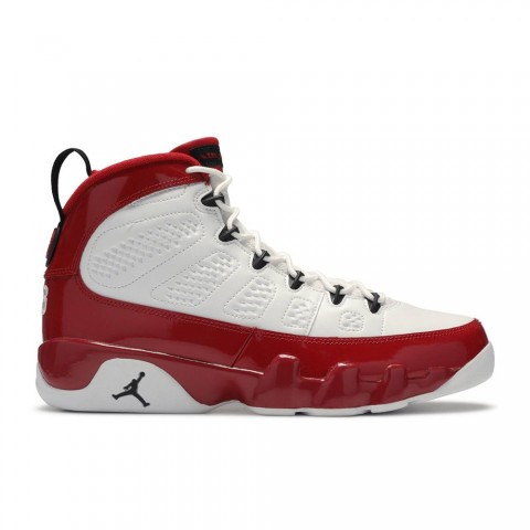 Wit, Zwart, Gym Rood Air Jordan 9 Retro Herenschoenen 302370-160