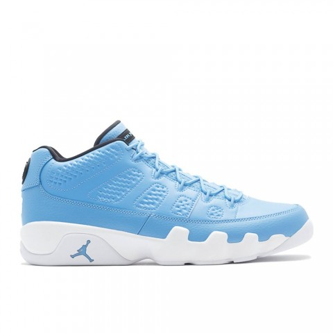 University Blauw/Zwart/Wit Air Jordan 9 Retro Low Herenschoenen 832822-401