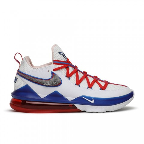 """Wit, University Rood, Game Royal Nike Lebron 17 Low """"Tune Squad"""" Herenschoenen CD5007-100"""